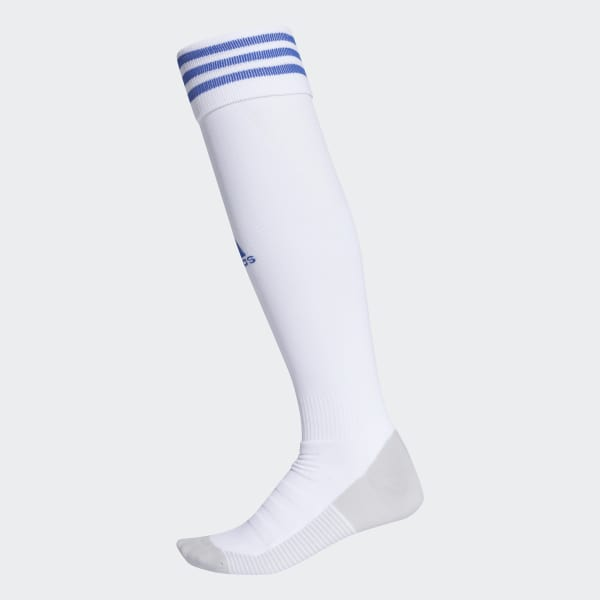735852505a58 AdiSocks Knee Socks White   Bold Blue CF3581