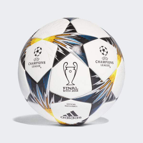 UCL Finale Kiev Official Game Ball White   Black   Solar Yellow   Blue  CF1203 0b5ef1dc279fb
