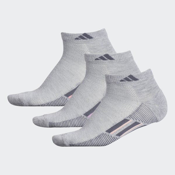 adidas Climacool Superlite Stripe Low-Cut Socks 3 Pairs - Grey ... de3d274fe4