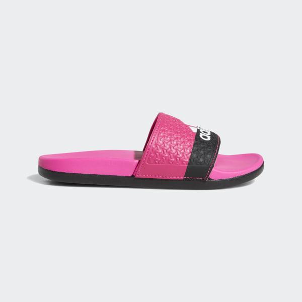 f10e1d058cbb adidas adilette Cloudfoam Plus Slides - Pink