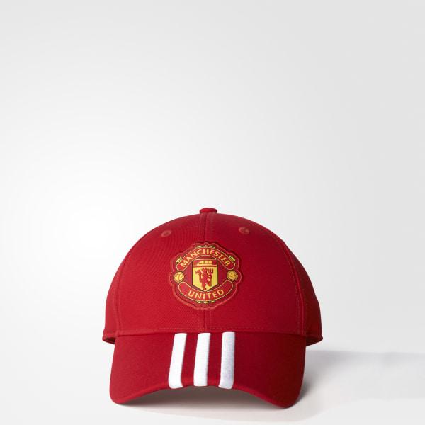 33bd96e777d82 Boné Manchester United FC 3-Stripes REAL RED POWER RED WHITE S94969