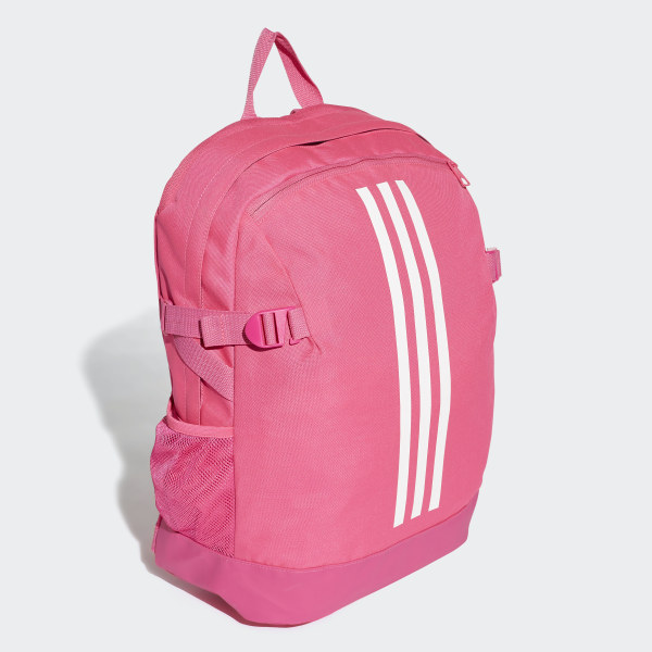 3-Stripes Power Backpack Medium shock pink   white   white DM7683 cbb6cbf87a219