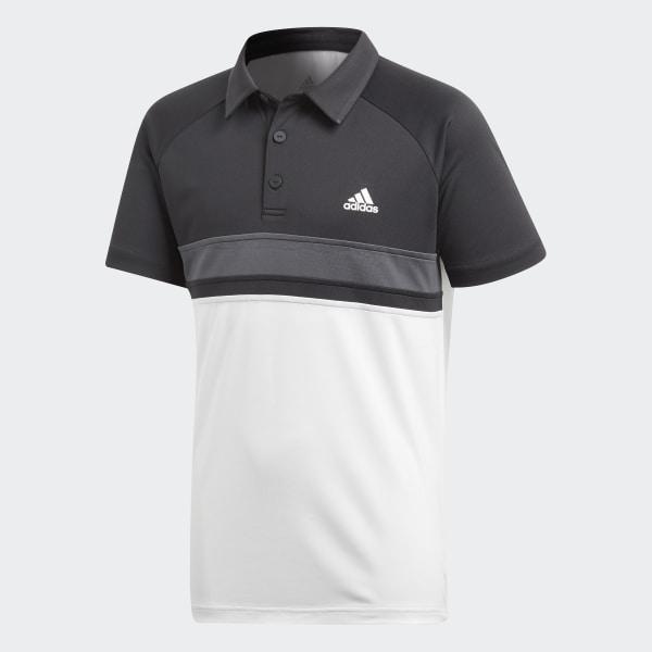 f3067e546273e Polo con Cuello Colorblock Club - Blanco adidas