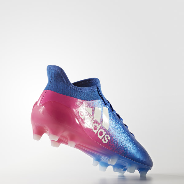 X 16.1 Firm Ground Boots Blue Footwear White Shock Pink BB5619 62c3e91994