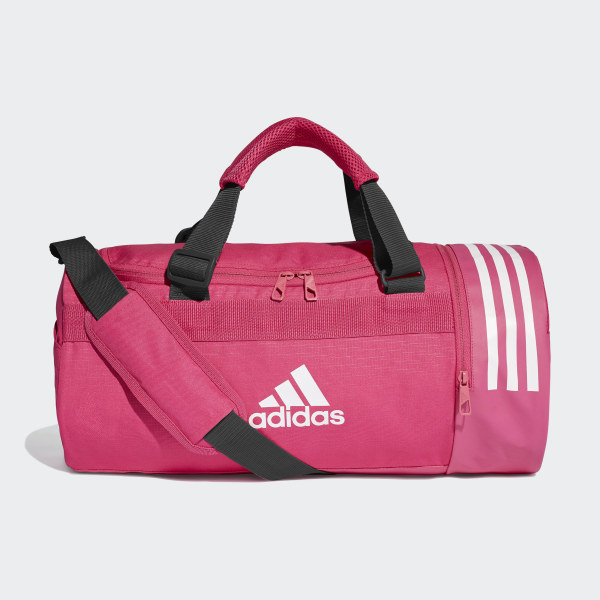 Convertible 3-Stripes Duffel Bag Small Real Magenta   White   White DT8647 21eb67a07c644