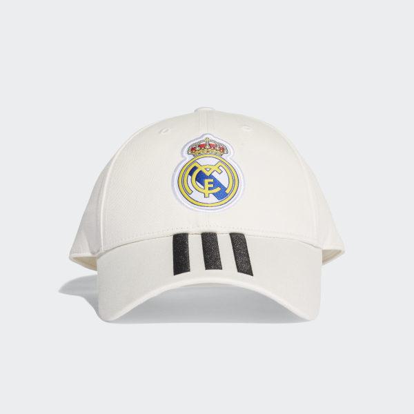 Real Madrid 3-Stripes Cap Core White   Black CY5600 e70d95e5d79