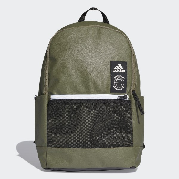 Classic Urban Backpack Green   Black   White DT2606