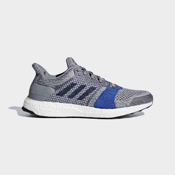 70554e114 Ultraboost ST Shoes Grey   Raw White   Legend Ink B37697