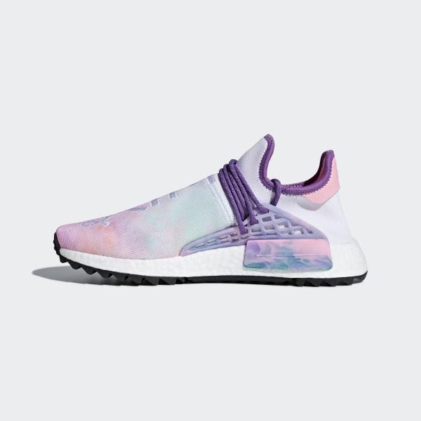 f97212723 Pharrell Williams Hu Holi NMD MC Shoes Pink Glow   Lab Green   Flash Purple  AC7362