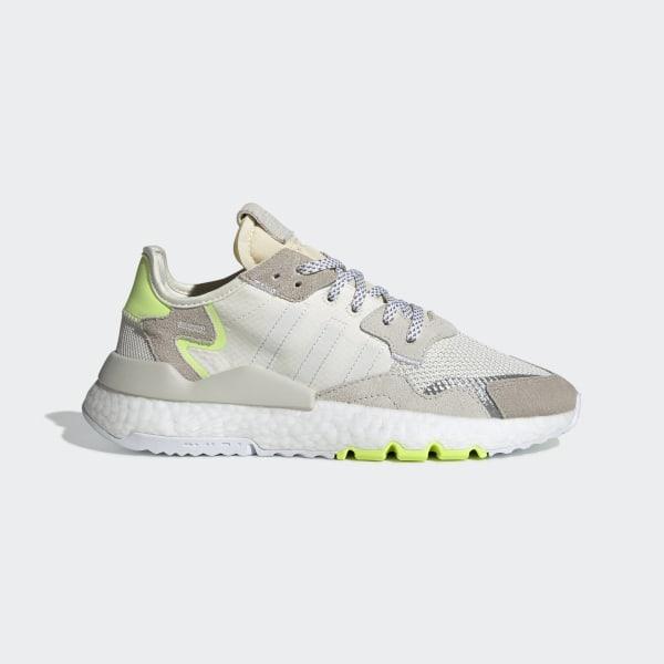 14880319b Nite Jogger Shoes Off White   Ftwr White   Hi-Res Yellow CG6098