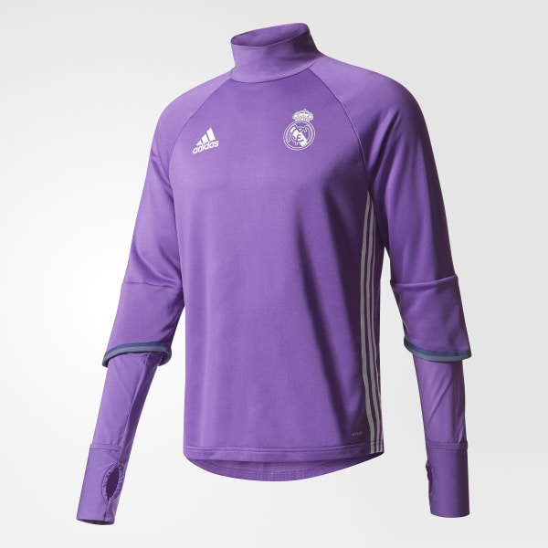 Sudadera de entrenamiento Real Madrid Ray Purple Crystal White AO3131 99e45c553c1b7