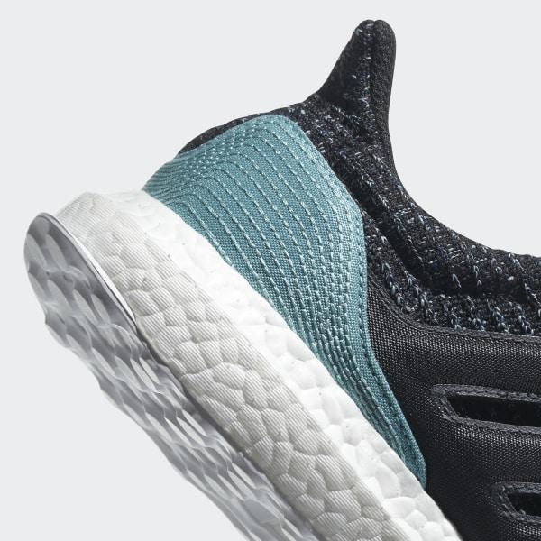 8b7d65fda8526 Ultraboost Parley Shoes Carbon   Carbon   Blue Spirit CG3673
