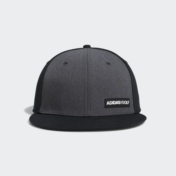 adidas Heathered Flat-Bill Hat - Black  ecbad91b6567