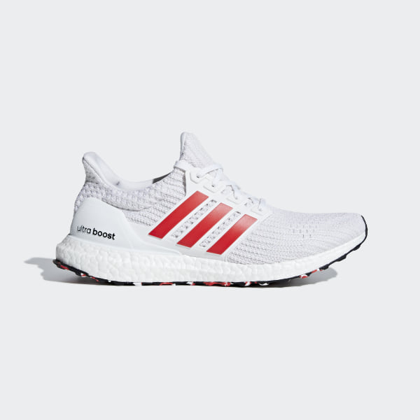 56a8be68ec32 Ultraboost Shoes Cloud White   Active Red   Chalk White DB3199