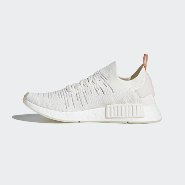 602a73987 NMD R1 STLT Primeknit Shoes Cloud White   Cloud White   Clear Orange B37655