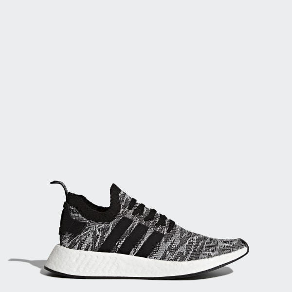 b93d7cf174c2 NMD R2 Primeknit Shoes Core Black   Core Black   Cloud White BY9409