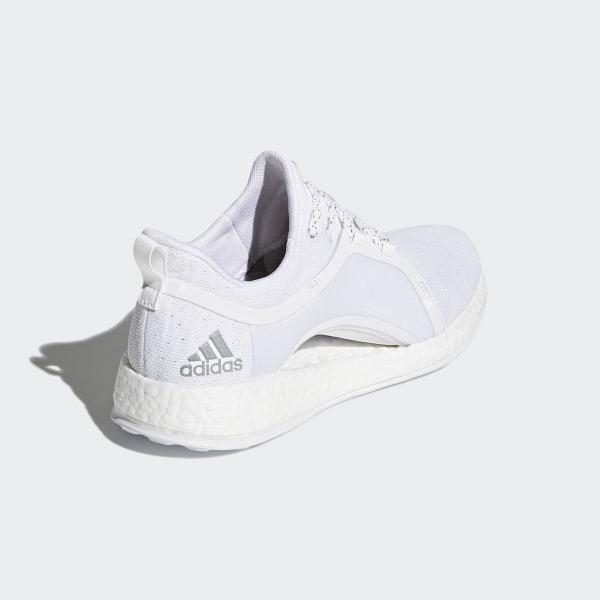 1588bc91f0313 Pureboost X Shoes Cloud White   Silver Metallic   Core Black BY8926