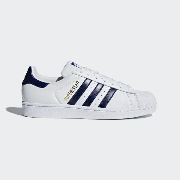 a6945d7469a613 Superstar Shoes Cloud White   Collegiate Royal   Gold Metallic B41996