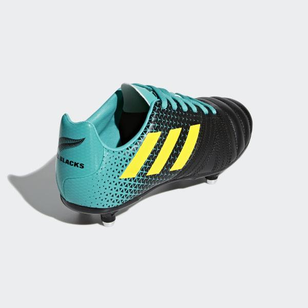 b99f5d51049e All Blacks SG Junior Boots Hi-Res Aqua   Shock Yellow   Core Black AC7721