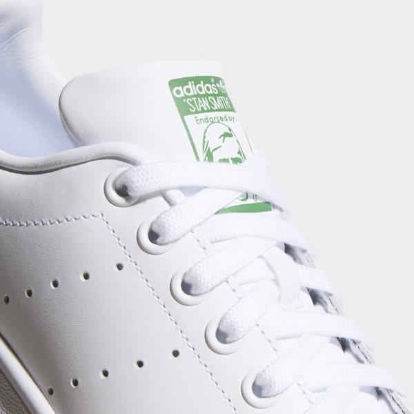 Stan Smith Shoes Cloud White   Cloud White   Green B24105 c3e700939cbd
