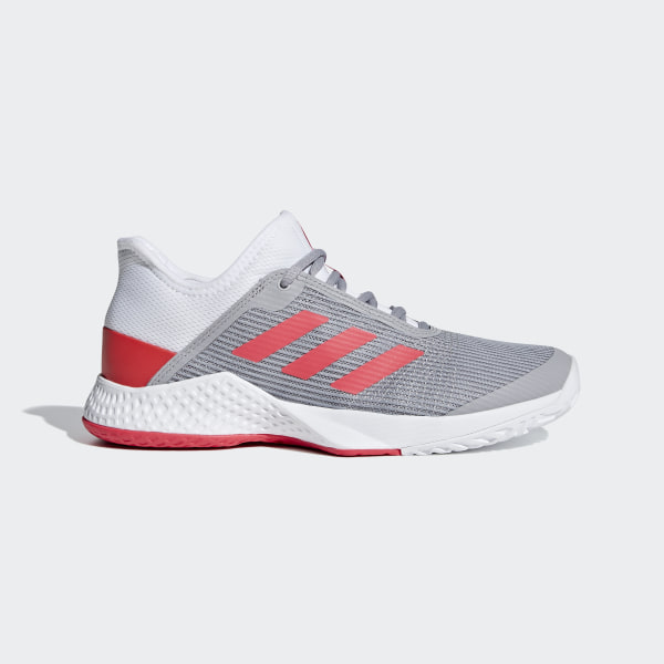 7bc5d0f1b1f73 Zapatilla Adizero Club Grey   Shock Red   Light Granite CG6364