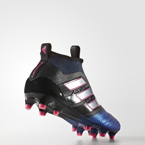 quality design bb62e a0e45 adidas ace 16 plus svart ace 17+ purecontrol firm ground cleats core black  cloud white blue ba9819