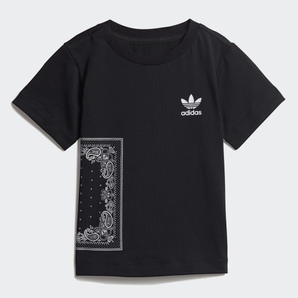 Tričko Bandana Black   White DW3854 533870405f
