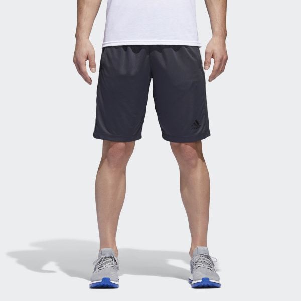 12da583aa4 adidas D2M 3-Stripes Shorts - Grey