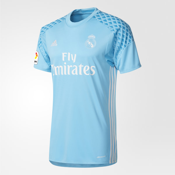 Camiseta de arquero Real Madrid Home BRIGHT CYAN CRYSTAL WHITE AI5175 3ad0f21811055