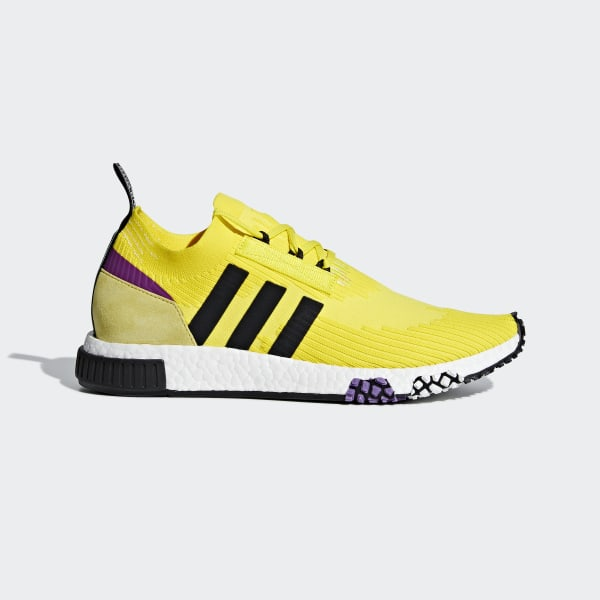 15b051472810 NMD Racer Primeknit Shoes Solar Yellow   Core Black   Shock Purple B37641