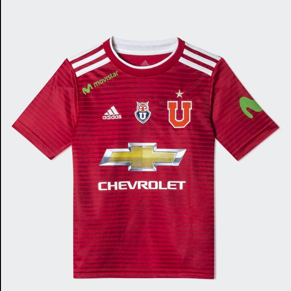 6326b7d75 Camiseta Visitante UNIVERSIDAD DE CHILE Niño 2018 WHITE BOLD BLUE CJ3743