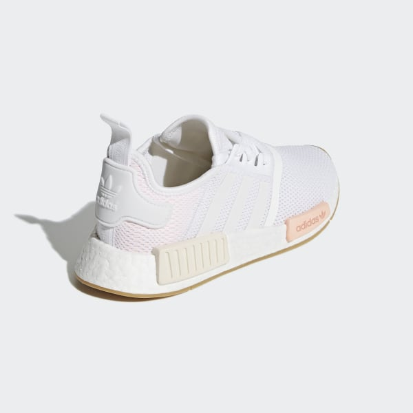 9797d5d4a7d9a NMD R1 Shoes Cloud White   Clear Orange   Linen BC0237