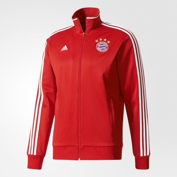 ab0b16094e5eb Chamarra FC Bayern Munich Track FCB TRUE RED WHITE BS0100