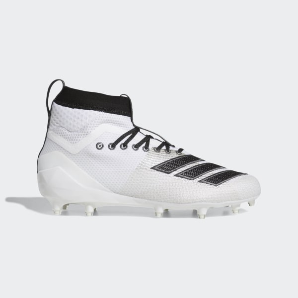 low priced 060c5 5d00f Adizero 8.0 SK Cleats Cloud White  Core Black  Grey Six F35202