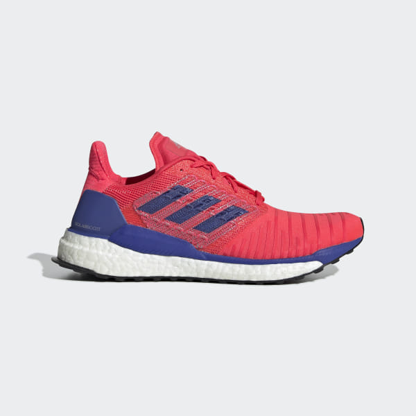 416020039 Solar Boost Shoes Shock Red   Active Blue   Active Blue D97433