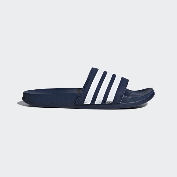 206aa8bc3c81 Adilette Cloudfoam Plus Stripes Slides Collegiate Navy   Cloud White    Collegiate Navy DA9340
