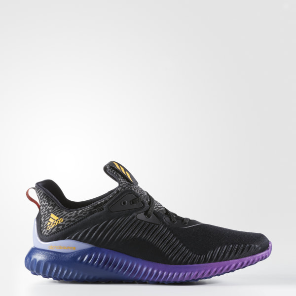 ce5abe16b8715 Alphabounce Shoes Core Black   Solar Gold   Shock Purple B42351