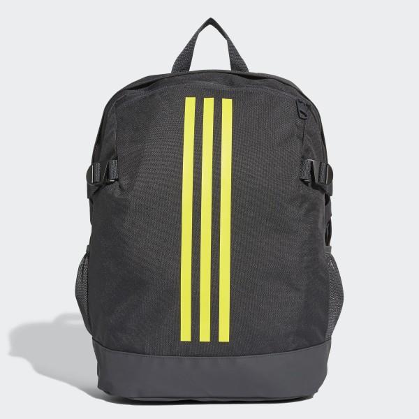 3-Stripes Power Backpack Medium carbon   shock yellow   shock yellow DM7681 71b6a8a21e82b