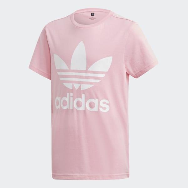 Camiseta Trefoil Light Pink   White DV2909 6df12d26fdae3