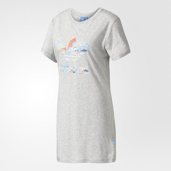 Trefoil Tee Dress Medium Grey Heather BJ8365 549e5744f
