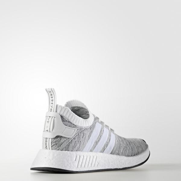official photos f38d3 53e94 Scarpe NMD R2 Primeknit Grey   Footwear White   Core Black BY9410