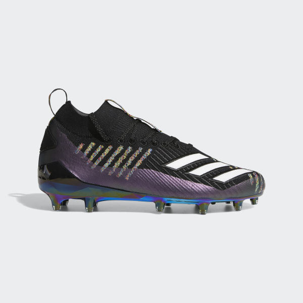 reputable site 00678 506ee Adizero 8.0 Primeknit Cleats Core Black  Cloud White  Grey EE4033