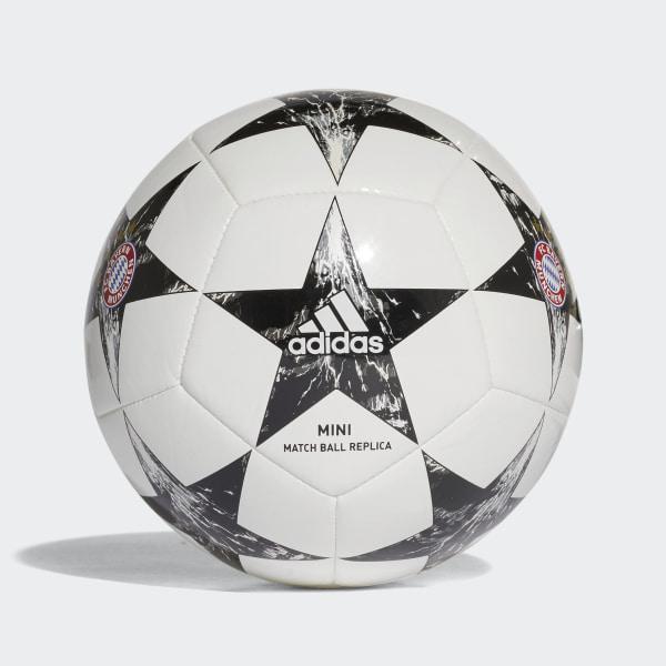 Mini balón Finale 17 FC Bayern Munich WHITE BLACK CRYSTAL WHITE S16 CINDER d4d00a33600b9