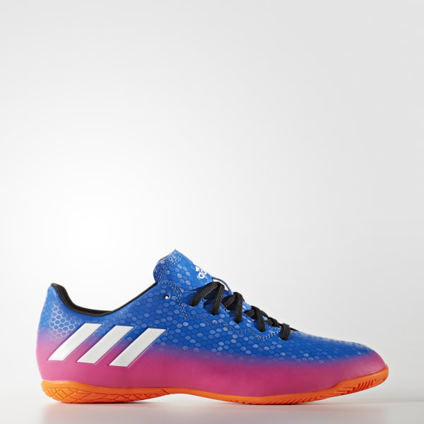 dfca90d777 Chuteira Messi 16.4 - Futsal BLUE FTWR WHITE SOLAR ORANGE BA9027
