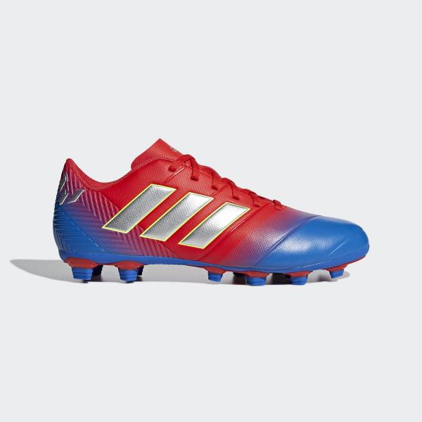 new style 6efc5 b7a44 Calzado de Fútbol NEMEZIZ MESSI 18.4 FxG active red silver met. football  blue
