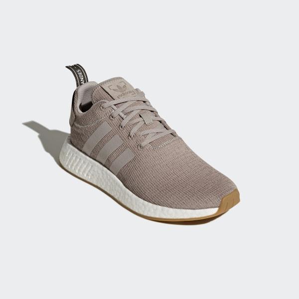 05e32a573a4 NMD R2 Shoes Beige Pink Vapor Grey Vapor Grey Tech Earth CQ2399