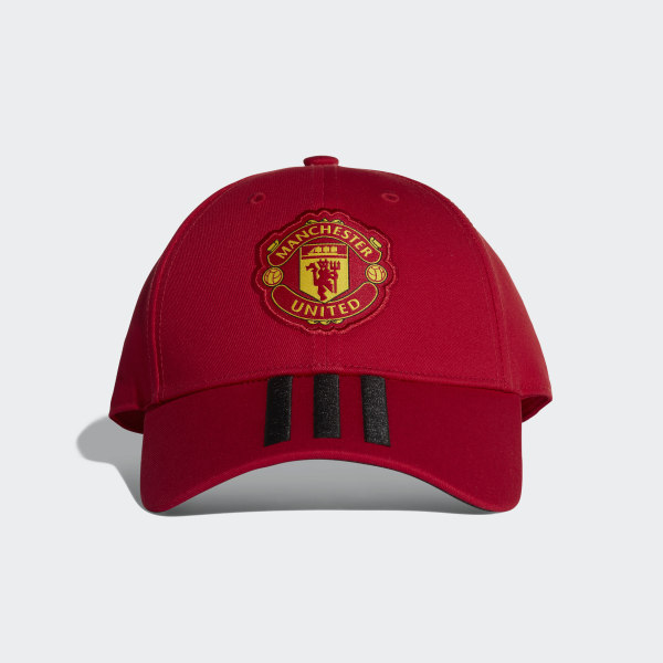 adidas Manchester United 3-Stripes Hat - Red  310ad61b855e