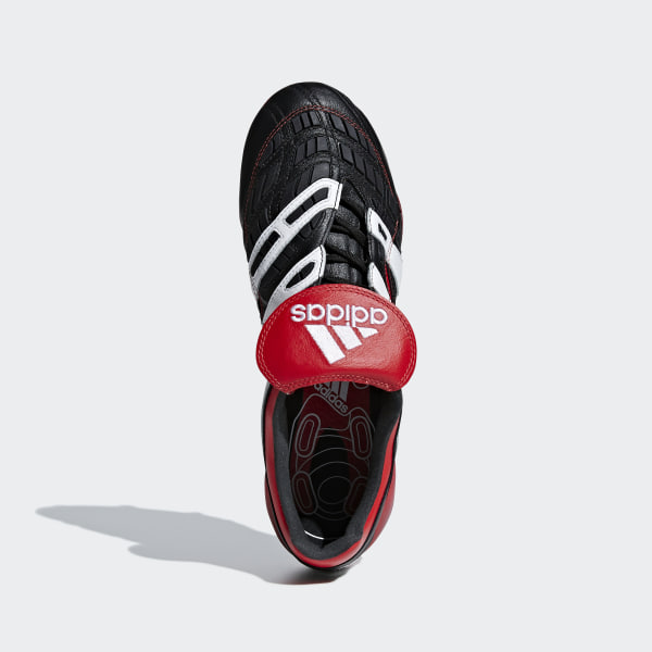 d6e8bd8acf9 Predator Accelerator Firm Ground Cleats Core Black   Cloud White   Red  D96665