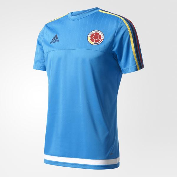 Camiseta de Entrenamiento Original Selección Colombia BRIGHT BLUE WHITE  M62835 ba6d5198a7116