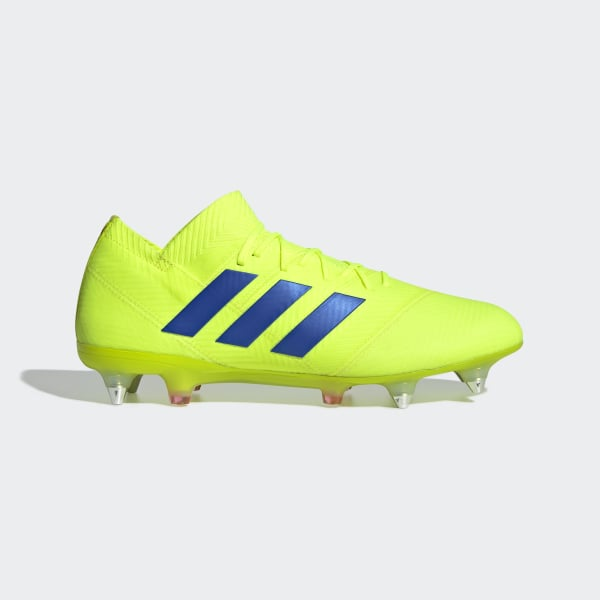 official photos 6139c d331d Bota de fútbol Nemeziz 18.1 césped natural húmedo Solar Yellow   Football  Blue   Active Red